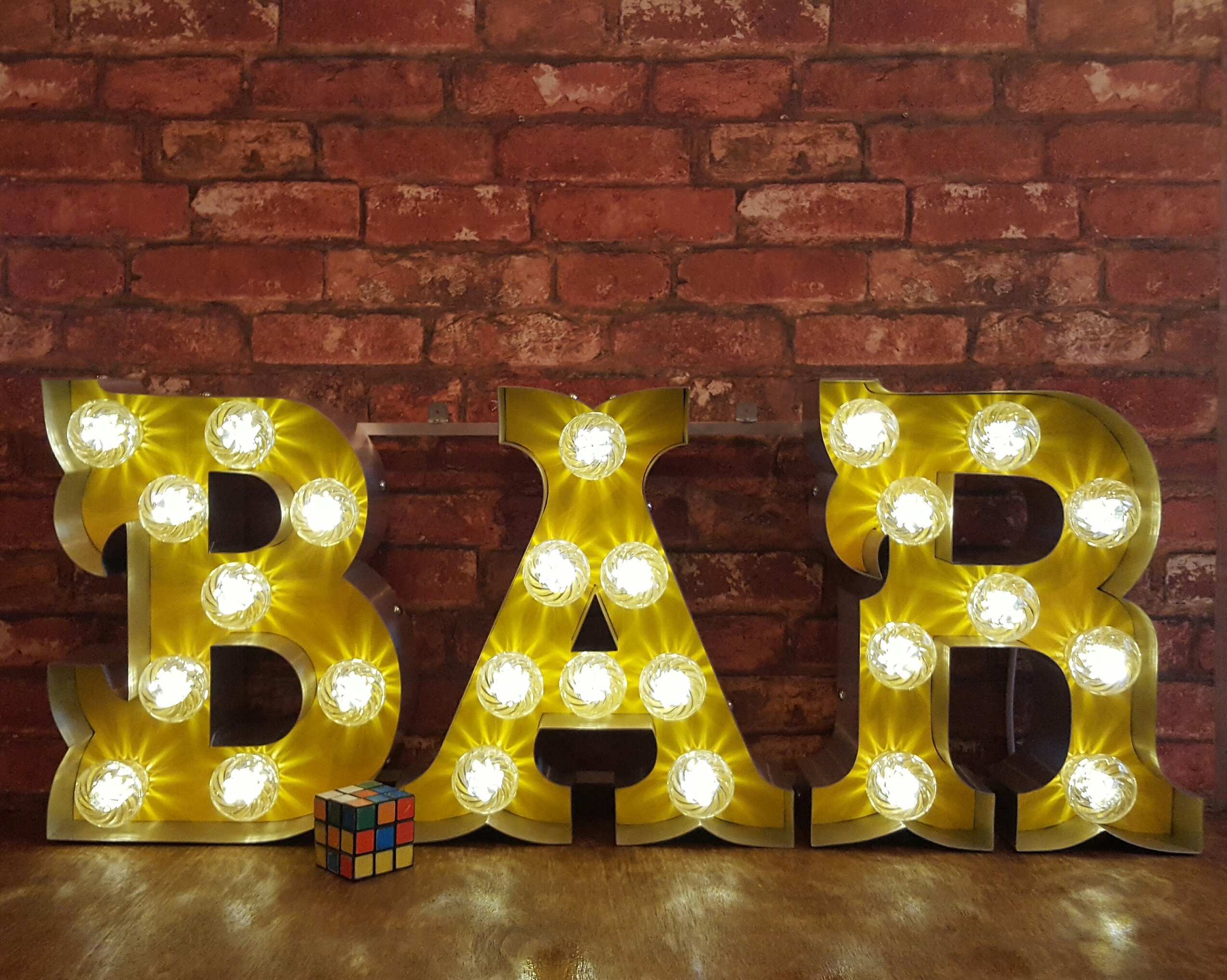 marquee light up letters bar sign